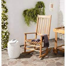 100 Wooden Outdoor Rocking Chairs Safavieh Shasta Teak Wood ChairPAT7002A The Home