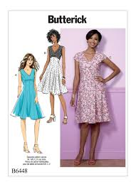 butterick 6448 misses u0027 fit and flare empire waist dresses