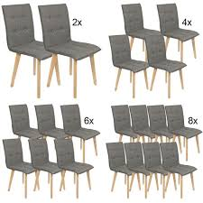 stühle im 2 4 6 8 er set modern esszimmerstühle küchenstühle wohnzimmerstuhl dunkelgrau polsterstuhl mit rückenlehne knöpfe echt holz beinen belastbar