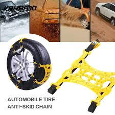 Hot Sale Vehemo 1 Pc Yellow Snow Chain Anti-Skid Chains Truck SUV ...