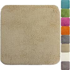 wc vorleger 50 x 50 cm rutschfester hochflor badteppich beige