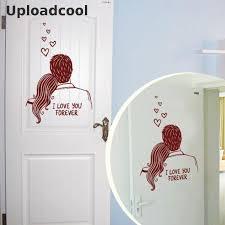 uploadcool romantische paar wandaufkleber hochzeit wohnzimmer hintergrund wandsticker bad glastür aufkleber