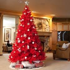 A Very Red Christmas Tree Im Not Sure I Could Do One This Big But Small Version With OU Ornaments Would Be AWESOME