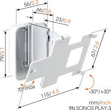 Sonos Ceiling Speakers Australia by Sound 4203 Speaker Wall Mount For Sonos Play 3 White
