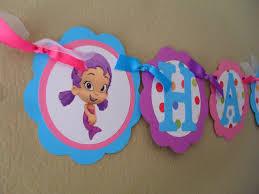 Bubble Guppies Bathroom Decor by Bubble Guppies Birthday Banner Bubble Guppies Birthday