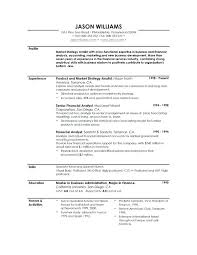 Profile Resume Example Sample Skills 6 Examples 2016