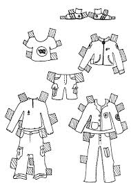 Clothes For Boys Doll Dress Colouring Page Coloring