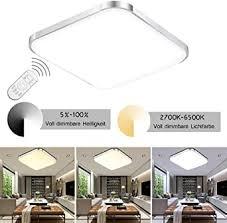 etime 12w led deckenleuchte dimmbar 30cm deckenle modern wohnzimmer le schlafzimmer küche panel wandleuchte 2700 6500k mit fernbedienung silber