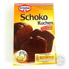 dr oetker schokokuchen chocolate cake mix