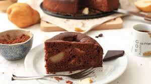 schneller birnen kakao kuchen die gesunde linie