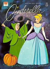 Cinderella Coloring Book Western Publishing USA 1965