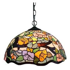Home Depot Tiffany Style Lamps by Warehouse Of Tiffany Courtesan 2 Light Brown Hanging Lamp