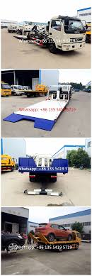 China Factory Dongdeng Small 4t Road Recovery Wrecker 5tons Flatbed ...
