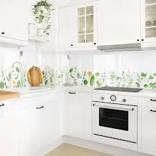 küchenrückwand kräuter und blüten klebefolie küche rückwand folie küchenfolie blumen