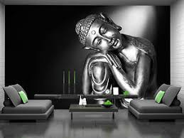 Image Is Loading Black And White Buddha Wall Mural Photo Wallpaper