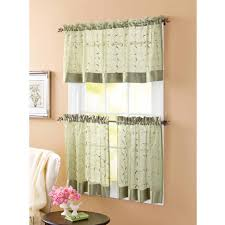 Walmart Kitchen Curtains Valances by Country Kitchen Valances Curtains Walmart Make Waves Tailored 52in