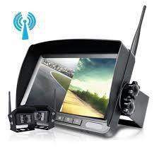 100 Rear Camera For Truck Digital 2 X Wireless View Backup 7 Split Monitor
