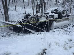 100 Truck Slides Snow Plow Truck Slides Off Slushy Road In Cross Plains WKOW