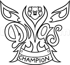 How To Draw The Wwe Diva Championship Belt Step 9