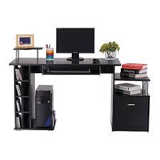 bureau pour ordinateur bureau pour ordinateur table meuble pc informatique en mdf noir