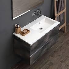 modulare badezimmermöbel 90 cm mit waschbecken im industrial design