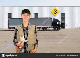 100 Female Truck Driver Truck Driver Waiting For Loading Stock Photo