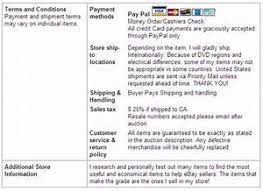 Ebay Seller Policy Template Feedback Templates Resume Examples RraWVW4Y74