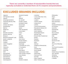 Ulta Coupon Exclusions / Usave Car Rental Coupon Codes Gorgeous Hair Event Ulta Beauty 20 Off Ulta Coupon October 2019 Zappos Coupons And Promo Codes September Off Universal One Nonprestige Item Online Skin Beauty Mall Code Recent Discounts Shipping Ccinnati Ohio Great Wolf Lodge 21 Stores You Shouldnt Shop Unless Have A Coupon The Promo 2018 Snappy Nails Broomfield Battery Mart Everything April Ulta 7 Best 350 Sep Honey Apple Discount For Teachers Inksmile Com