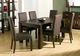Handcrafted Wooden Dining Tables Dark Wood Table And Chairs Solid Set