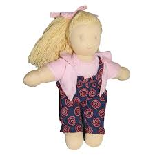 Amazoncom Grimms Little Lavender Waldorf Doll Orange Toys Games