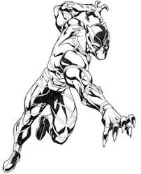 Black Panther Animal Coloring Pages Big Cat In