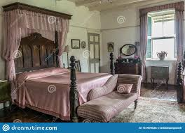 Pink Vintage Bedroom Decor Including An Antique French ...