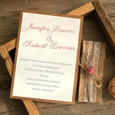 Rustic Style Wedding Invitations Burlap And Lace Layered Invitation 2 Country