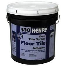 Acrylpro Ceramic Tile Adhesive Cleanup by Henry 430 Thin Spread Floor Tile Adhesive Clear 4 Gals Model