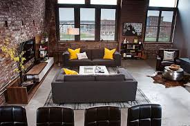 View In Gallery Industrial Living Room Of Urban Loft Kansas City