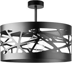 deckenleuchte schwarz metall modern offener schirm mit