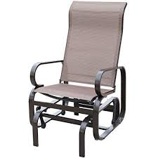 Stack Sling Patio Chair Tan by Patiopost Outdoor Textilene Mesh Fabric Patio Sling Glider Chair