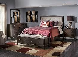 Freeport 4 pc Queen Bedroom Set Merlot Brindle