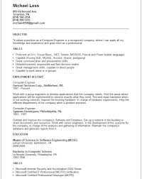 Download Resume Format For Computer Engineers Images Gallery