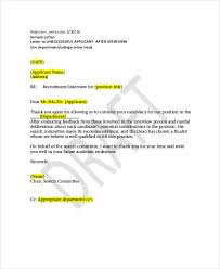 Rejection Letter Sample 10 Free Word PDF Documents Download