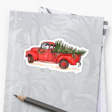 Little Red Christmas Truck