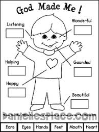 God Made Me Activity Sheet For Sunday School And Childrens Church From Daniellesplace
