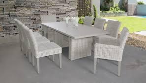 Coast Rectangular Outdoor Patio Dining Table With 6 Armless ...