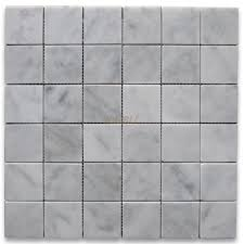 carrara marble tile italian white 2x2 square mosaic polished