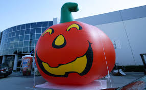 Halloween Inflatable Archway Tunnel by Large Inflatable Pumpkin