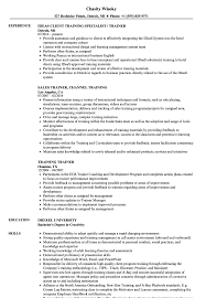 Download Training Trainer Resume Sample As Image File