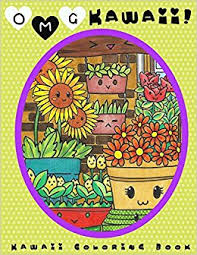 OMG Kawaii Coloring Book Cute Adult LightBurst Media 9780997938920 Amazon Books