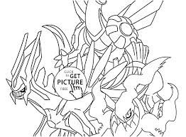 Legendary Pokemon Coloring Pages Free Sheets