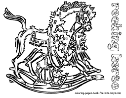 Kids Coloringpage Rocking Horse At YesColoring
