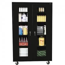 sandusky mobile clearview storage cabinet black ta4v46247209